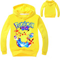 New Boys Girls Cartoon Print Animal Hoodies Kids  Casual Character Pokemon SweatShirt Tops Clothes Birthday Gift For Kids
