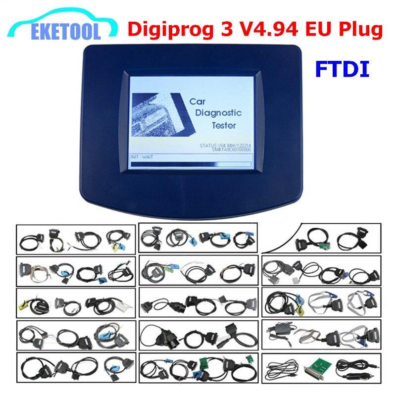 Full Chip FTDI Newest Digiprog 3 V4.94 Programmer 2018 Multi-Language Odometer Correction Digiprog3 DIGIPROG III V4.94