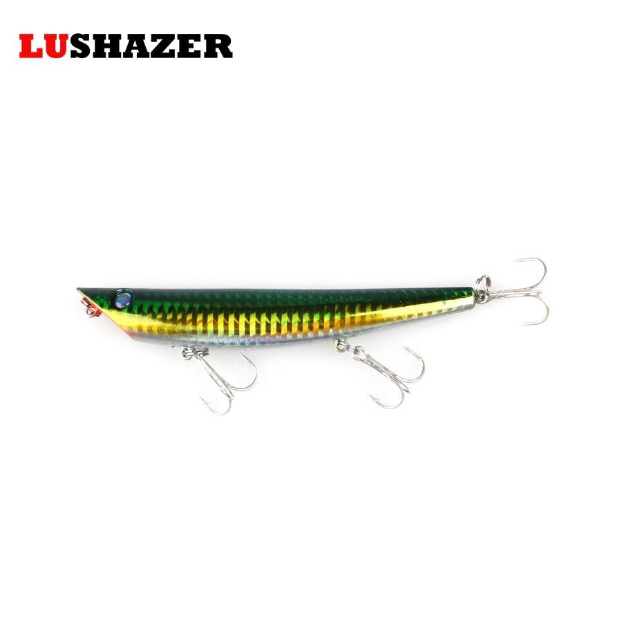 Lushazer pencil fishing lures 18g 125mm hard bait carp for Fishing videos 2016