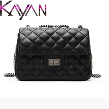 Luxury Brand Lambskin Women Bag Diamond Lattice Chain Soft Large Falp For Lady Female Crossbody