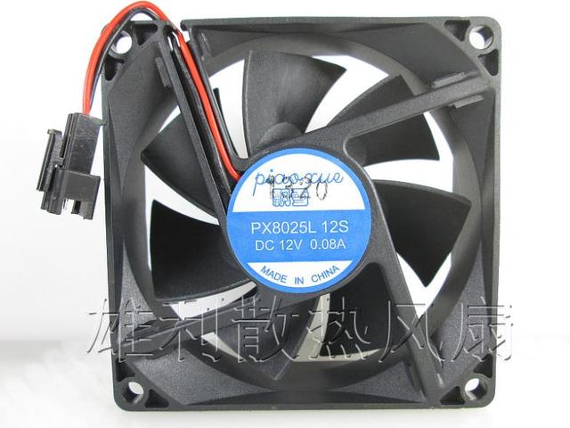 Free Delivery. PX8025L 12 s 12 v 0.08 A 8 cm 8025 silent cooling fan 80 * 80 * 25 mm