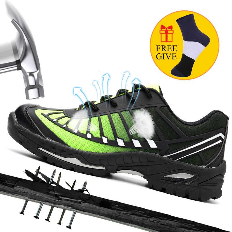 XZMDH Dropshipping Erkek Ve Kadın Güvenlik Ayakkabıları Açık Nefes Erkek Botları Smash Geçirmez Delinmez Işçi Ayakkabı