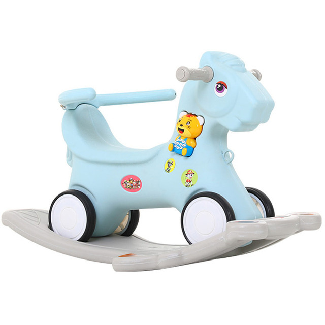 Free Shipping Large New Baby Rocking Horse  Children's Wooden Horse Rocking Chair with Music 4