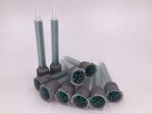 цены TZ-FB516L 1:1&2:1 FMB5-16L static mixing tube epoxy resin AB glue nozzle mixing head square mixer adhensive dispensing nozzle