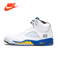 Original New Arrival Authentic Nike Air Jordan 5 Retro Laney Men's Breathable Basketball Shoes Sport Outdoor Sneakers 136027 189