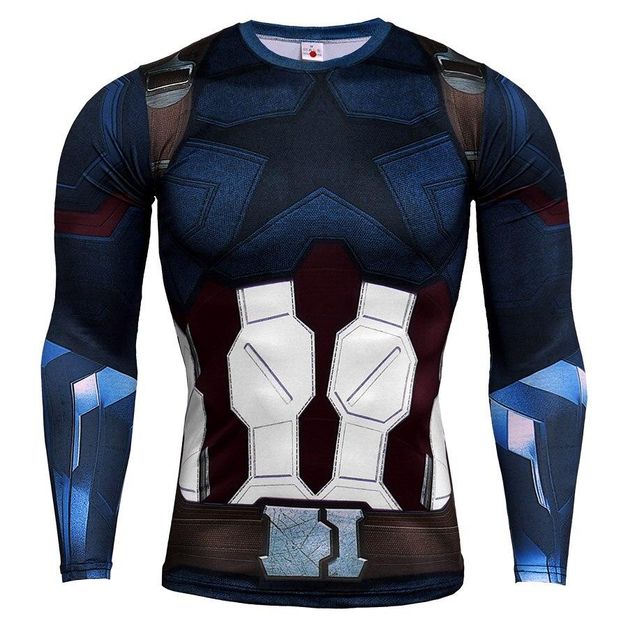 3D Printing Quick Dry long Sleeved Sports Tight, Men's T-Shirt