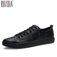 ROXDIA Genuine Cow Leather Men Dress Casual Flats Spring Autumn Brand Spring Autumn Men S Loafers