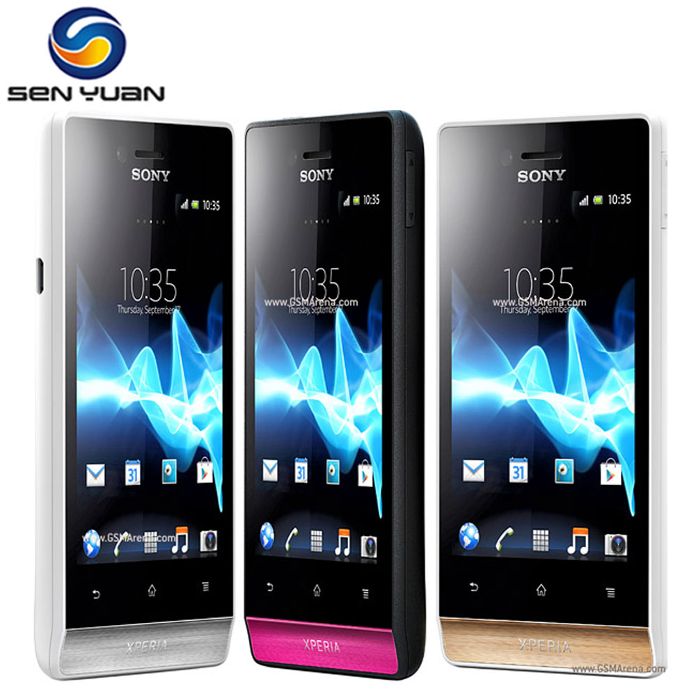 """Цена за Оригинальный Sony Xperia miro ST23i ST23 Мобильный Телефон 3.5 """"экран 3 Г GPS WiFi 5MP разблокирована сотовый телефон Бесплатная Доставка"""