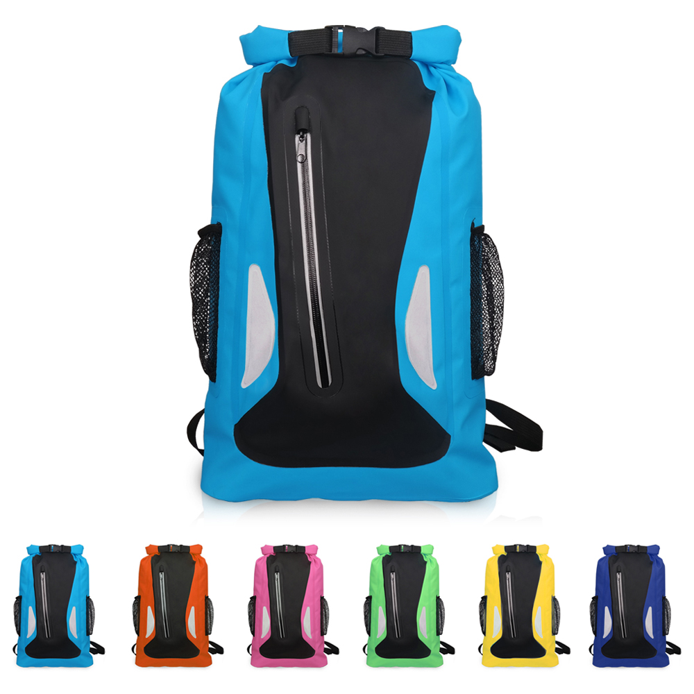 25L Waterproof Bag Backpack Ultralight Dry Rafting Camping Hiking Swimming Waterproof Bag Dry Bag Outdoor Travel Kits Reflective