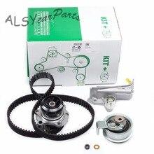YIMIAOMO Water Pump & Hydraulic Tensioner Timing Belt Kit 06B 109 477 A For VW Passat Audi A4 A6 Skoda Seat 1.8L 20V 06A121011L 20pcs kit cam follower hydraulic lifters for audi a3 a4 a6 tt 1 8t dohc 20v