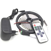 Non Waterproof LED Strip 600 leds 5m 2835 led light white red blue + 12v2a Power adapter + 11 Keys RF Controller + DC