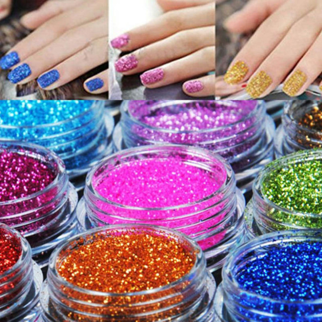 Nail Glitter Dust Set Matte Powder for Nail Art Glitter Polish ...