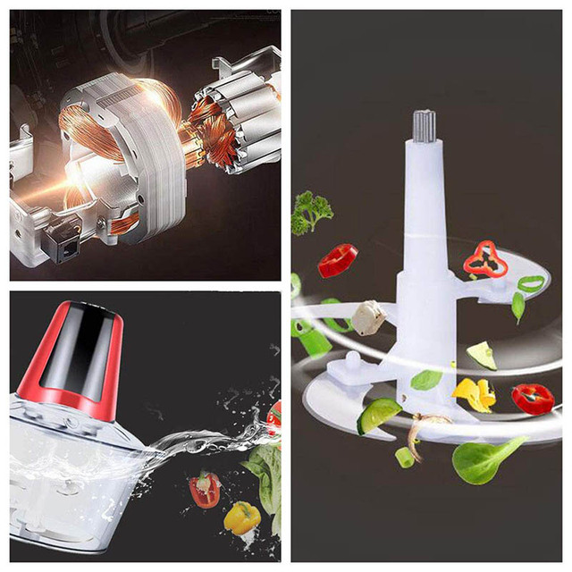 Vegetable and meat electric chopper and grinder