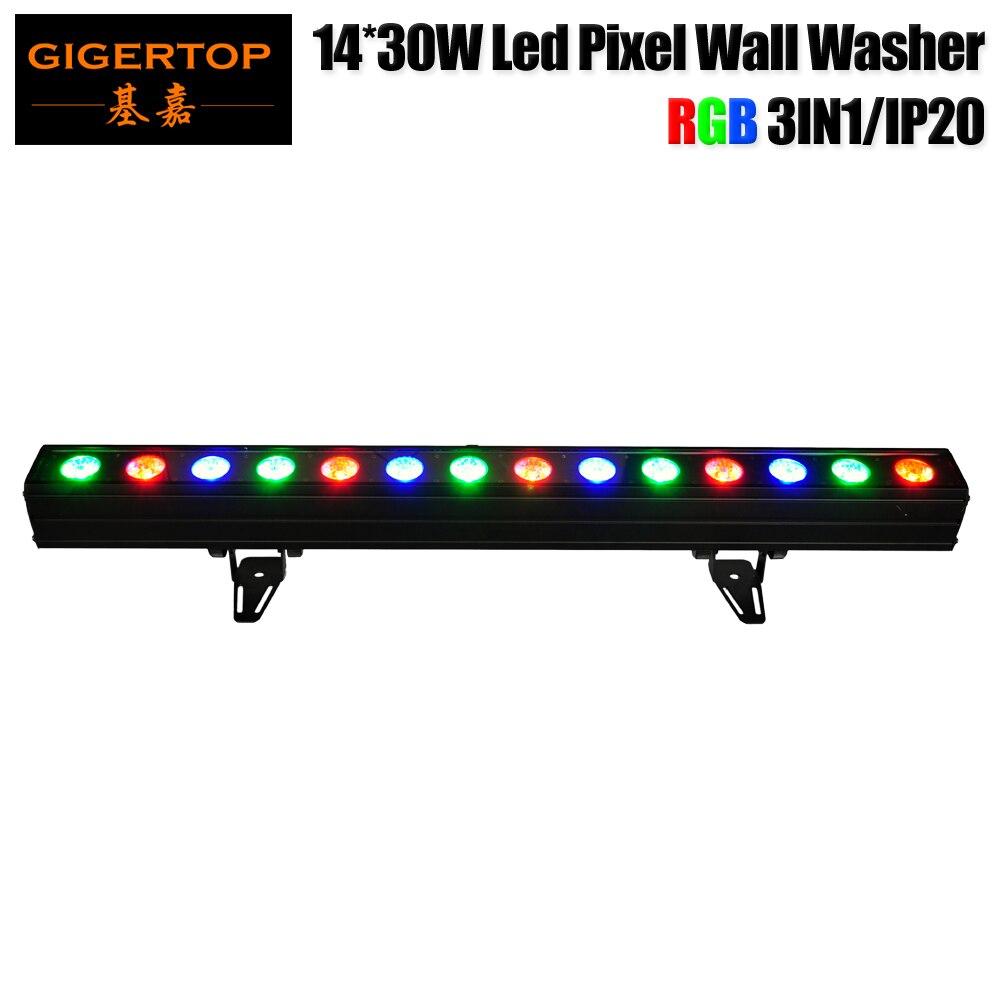 Gigertop TP-WP1430B 450W RGB COB 3IN1 Led Wall Wash Lighting 14x30W DMX/Sound Active/AUTO/Master-Slave 3 pin male & female XLR