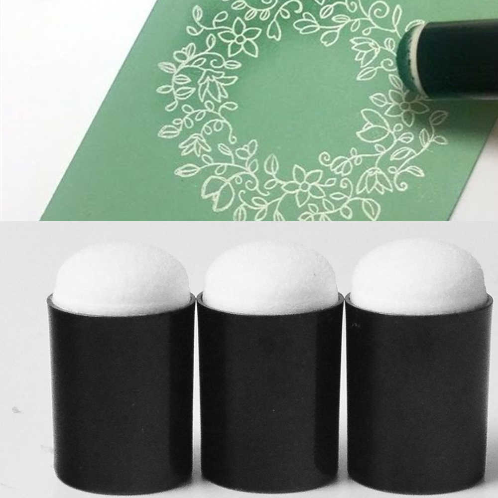 3 pcs Sponge Daubers for Finger Daubers Sponger Foam applying ink, chalk,inking, staining DIY Crafts Scrapbooking Painting Tool
