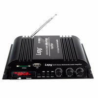 4 canales amplificador multifuncional FM SD USB reproductor de MP3 a distancia control digital de audio Estéreo mini amplificador de energía del coche LP-269