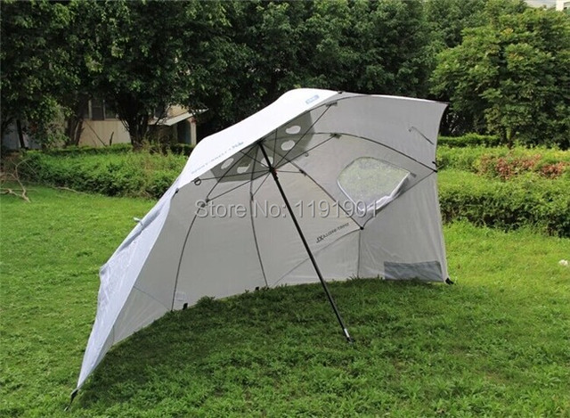 Outdoor Uv Protection Rain Resistant Large Fishing Umbrella Tent Beach C&ing Sun Shelter & Outdoor Uv Protection Rain Resistant Large Fishing Umbrella Tent ...