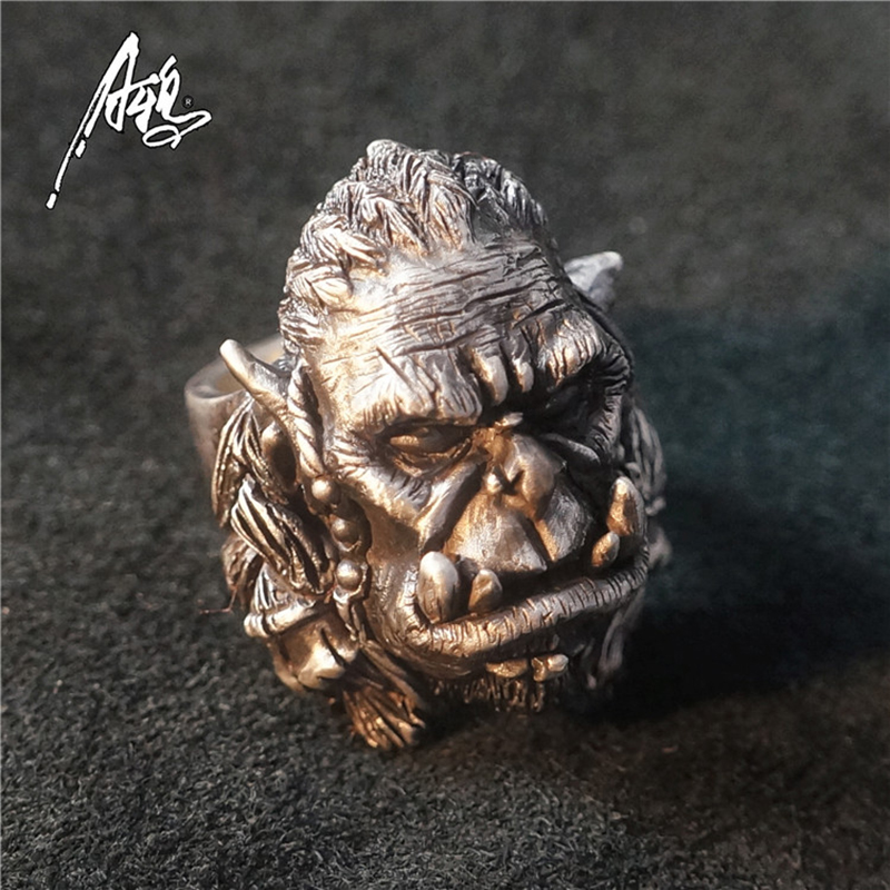 Cool Warcraft Durotan Ring For Man High Quality Designed 925 Silver/Brass Unique Jewelry Rings Punk Animal Rock Jewelry Partty кристи голден warcraft durotan eellugu