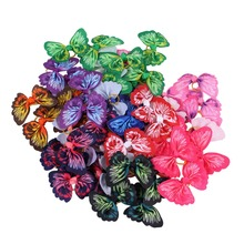 50pcs Wholesale Butterflies Dogs Bows Hair Accessories with Rubber Band For Long Pet Grooming Products honden strikjes