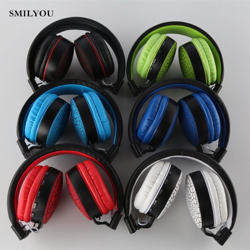 SMILYOU MS772 Crack Wireless Bluetooth Headphone Headband Earphone Stereo Bluetooth Headset Sport Bluetooth Earpiece Headphones 2016 new fashion brand sport headphones bluetooth wireless foldable headband headset cool led light headphone free shipping
