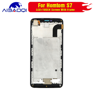 Image 3 - New Touch Screen LCD display LCD screen for HOMTOM S7 screen with Frame replacement parts + removal tool + 3M adhesive