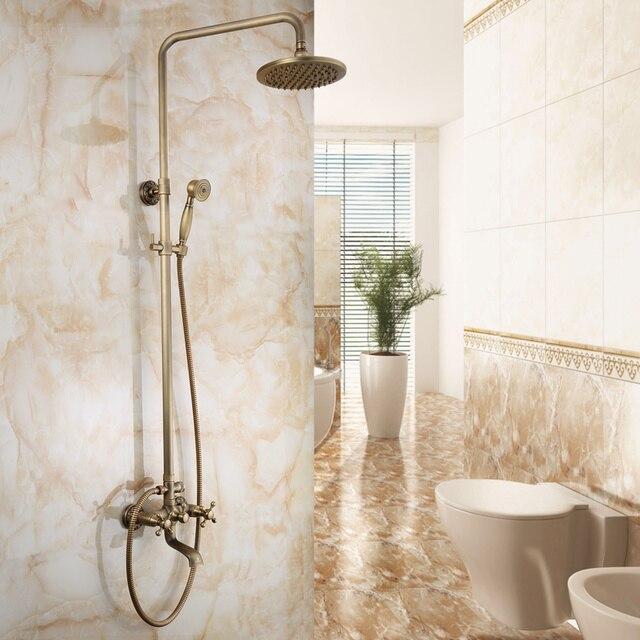 Antique Shower Set Brass Shower Head Tap Brush Bath Faucet Shower ...