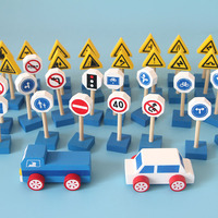 Wooden Puzzle Building Block For Children Traffic Sign Building Blocks The Traffic Safety Of Kindergarten Teaching