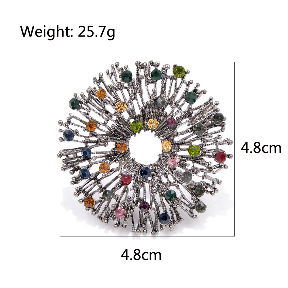 CINDY XIANG New Arrival Colorful Flower Brooches for Women Vintage Round Coat Brooch Pin Sweater Accessories High Quality Gift 2