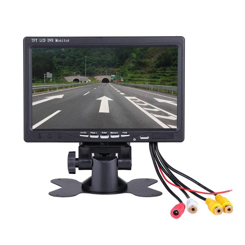 1Pcs Four Channels Digital Wireless 7 inch TFT LCD Camera Car Audio Video 4CH Quad DVR Camcorder Recording Monitor