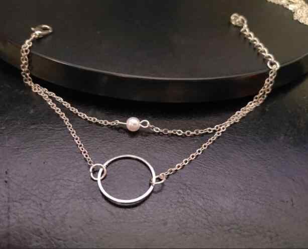 S 269 caliente 2018 nuevo verano de doble capa con perlas de COLLAR COLGANTE de aleación de pulsera accesorios de la joyería directo de fábrica