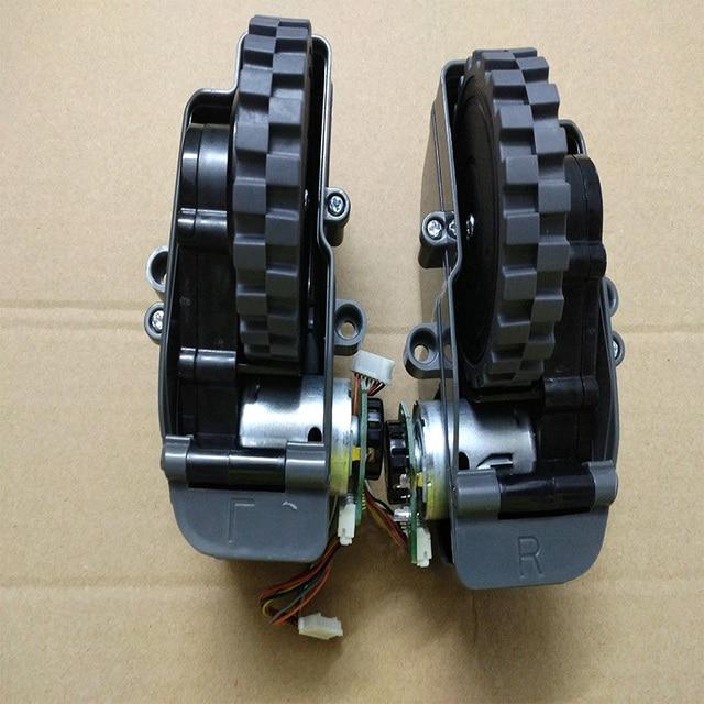 الروبوت فراغ نظافة الاكسسوارات يسار يمين عجلات ل الباندا X500 روبوت مكنسة كهربائية أجزاء