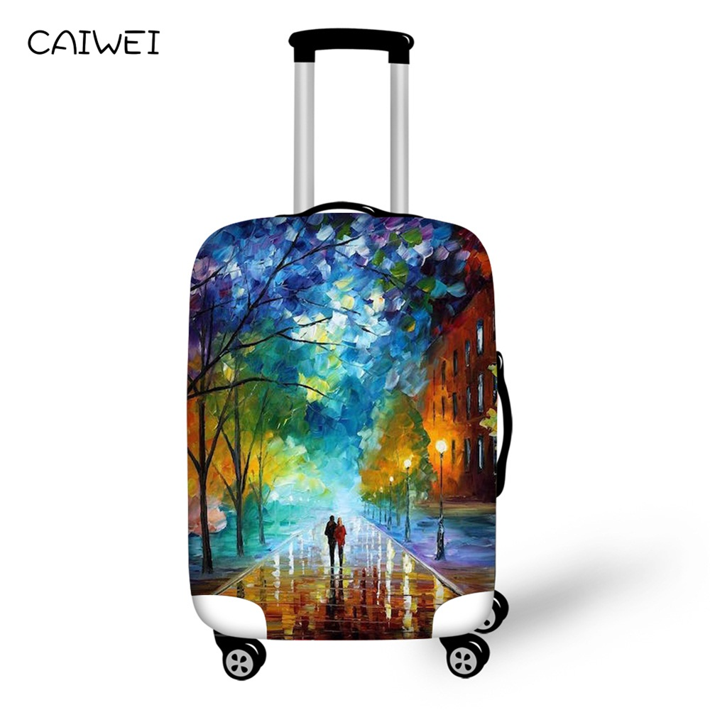 Colorful Luggage Protective Cover For 18 20 22 24 26 28 30 Inch Trolley Case Elastic Dustproof Rain Travel Bag Cover