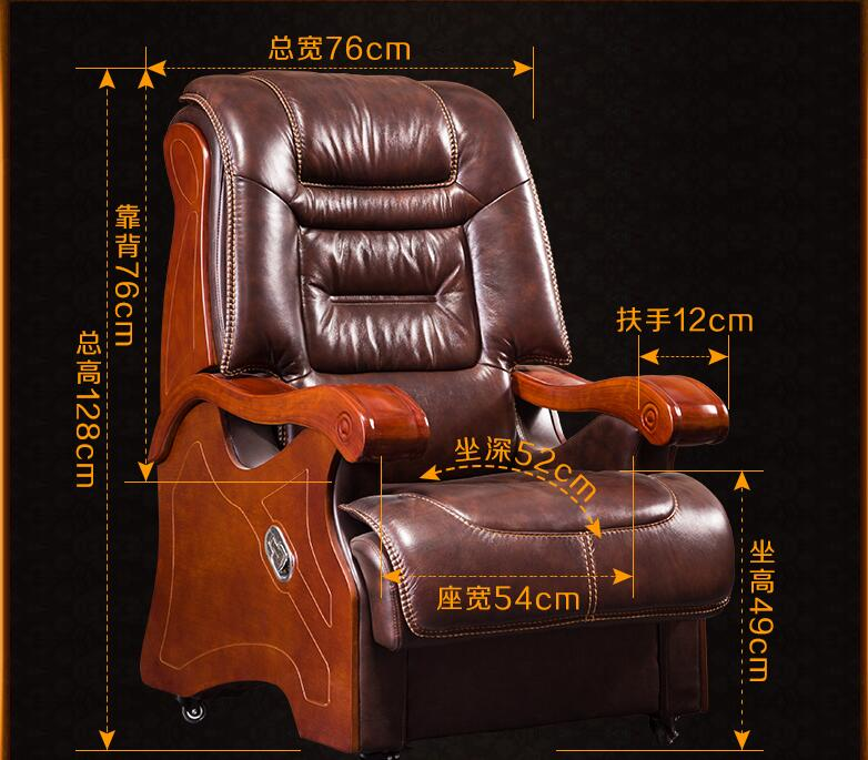 Купить с кэшбэком Boss chair. Real leather can lie in big chair. Office chair..013