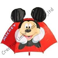 Children animal umbrella,cartoon design,auto open.8mm steel shaft and fluted ribs,safe&enviroment kid,ear umbrella