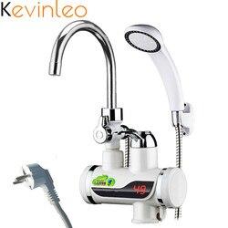 3000 W calentador de agua sin tanque ducha de agua instantáneo del calentador de agua de grifo de cocina instantánea grifo
