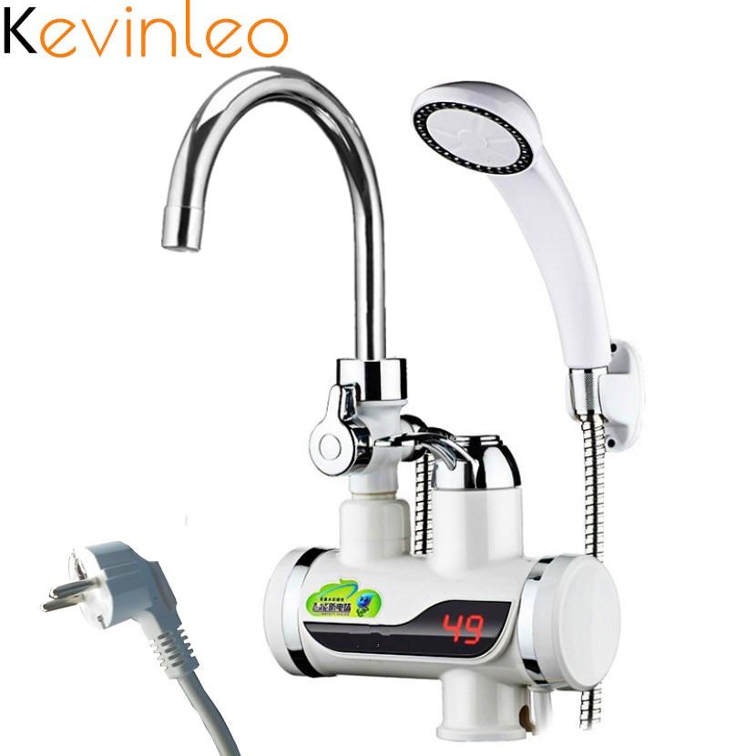 3000W 110V Water Heater Shower Tankless 220V EU/US Plug Instant Water Water Heater Tap Kitchen Instant Electric Kitchen Water