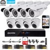 Eyedea 8 CH Remote View Phone APP HDMI DVR Bullet Dome 1080P 2 0MP5500TVL Night Vision