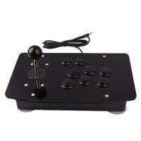 Arcade Fighting Stick Joystick Arcade Game Controller di Gioco di Alta Precisione Ad Alte Prestazioni 8 Tasti Direzionali Acrilico