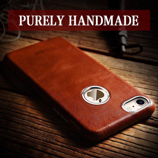 Icarer For Iphone 8 Case 4 7 Retro Handmade Genuine Leather Case