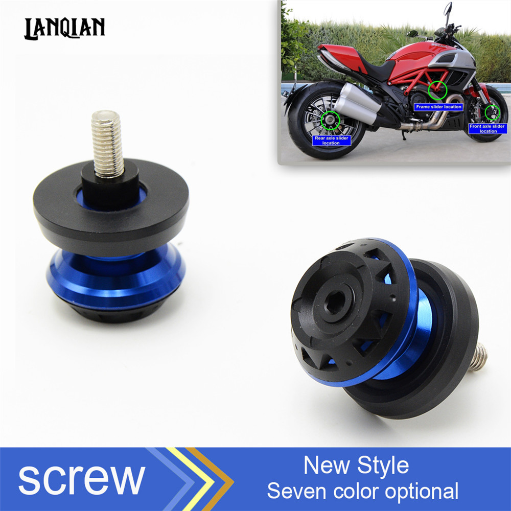 Motorcycle accessories CNC Aluminum Motorcycle Swingarm Spools slider For yamaha YZF R1 R6 Tmax 500 tma530 2011 2012 2013 2014 6mm motorcycle accessories swingarm spools slider stand bobbin bolts for yamaha t max 530 500 yzf r1 yzf r6 xjr 1300 xj6 mt 09