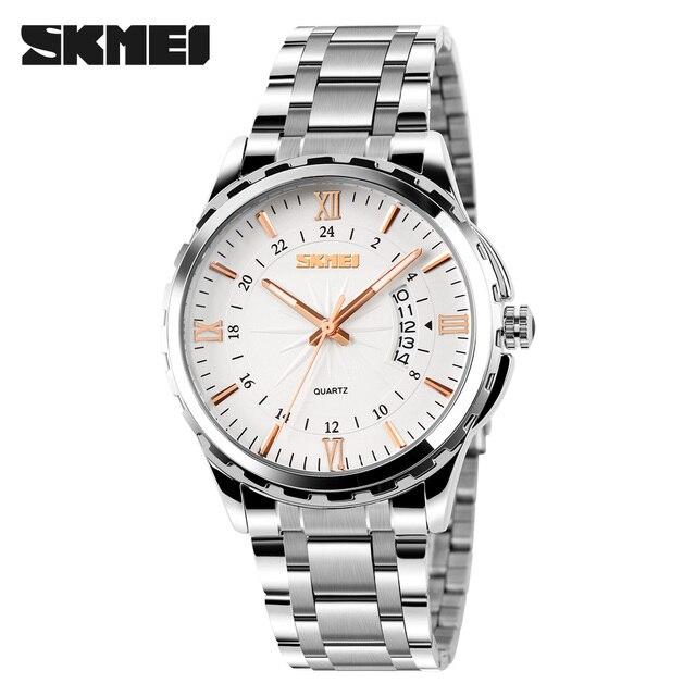 SKMEI Men Watches Top Brand Luxury Men Military Wrist Watches Full Steel Men Sports Watch Waterproof Relogio Masculino