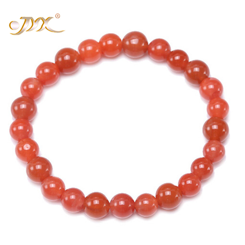 JYX Bracelet Men Women 100% Nanhong Red Agate Stone Mala buddhist Prayer Beads Bracelet- Buddha jewelery 7
