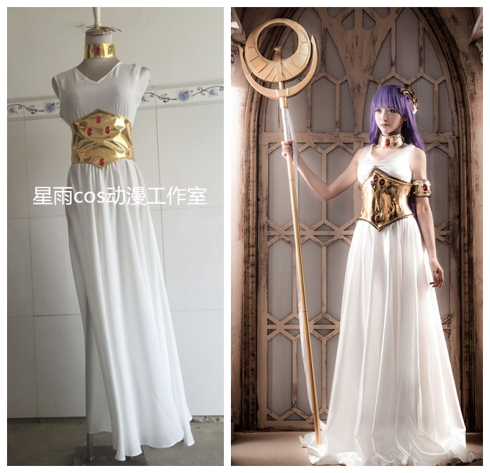 2016 Saint Seiya The Lost Canvas - Myth of Hades Athena Cosplay Costume saint seiya legend of sanctuary saga cosplay costume