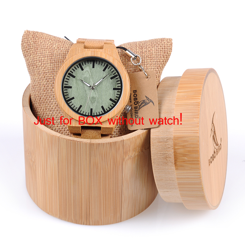 BOBO BIRD Round Bamboo Box for Watches 1