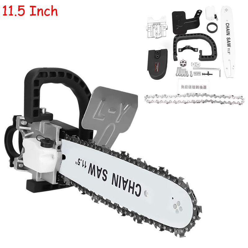 11.5 Inch Chainsaw Bracket Changed M10+M14 Angle 100 Angle Grinder  Electric Angle Grinder Into Chain Saw Woodworking Power Tool