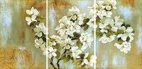 3 Paneles Sin Marco Pinturas de la Lona para el Hogar/Cafetería Decoración Fresca de Color Flores de Manzana Colgante de Pared de Imágenes Del Fondo Del Sofá