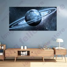 Panoramic Space Milky Way Landscape Poster Wall Art Picture for Garage Family Room Decor Abstract Artwork Home Retail