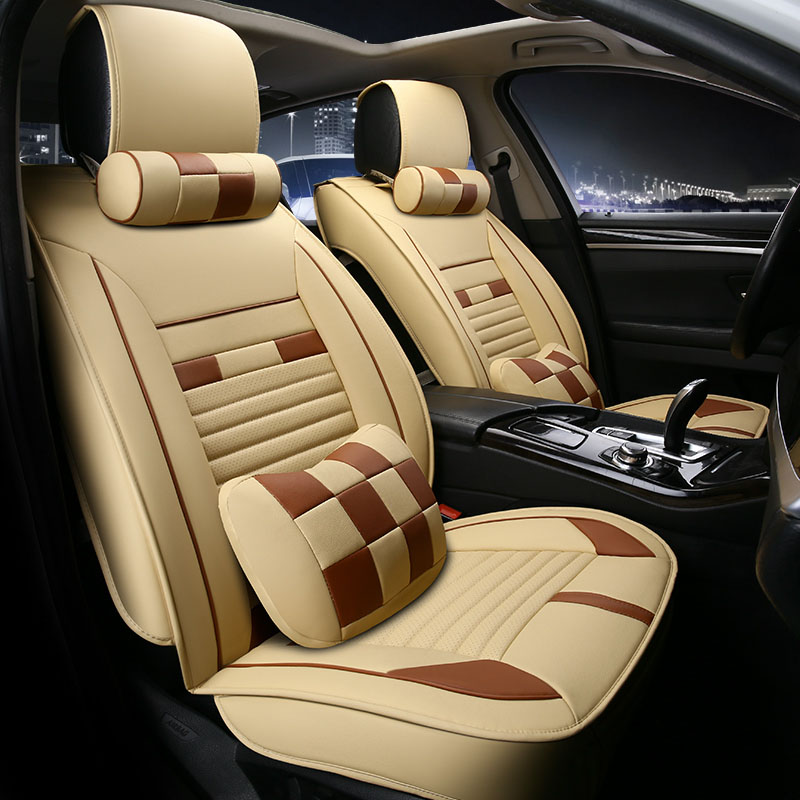 Universal car seat cover seats covers leather for Daewoo kalos korando leganza matiz musso nexia nubira racer gentra rezzo