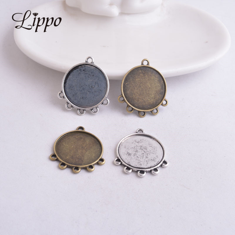 Stud Earring Pair with Cabochon Picture Sea-pig Guinea Pig Popo butt bronze different sizes