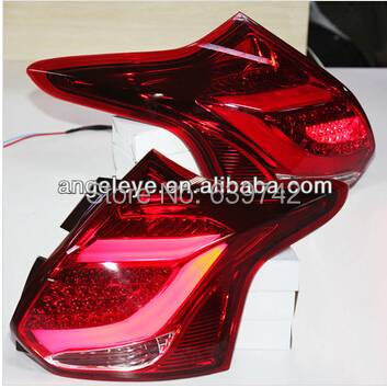 2012-2014 year for  FORD Focus 3 hatchback LED Strip Tail Lamp  rear lights back light  Red color  TJ type accent verna solaris for hyundai led tail lamp 2011 2013 year red color yz